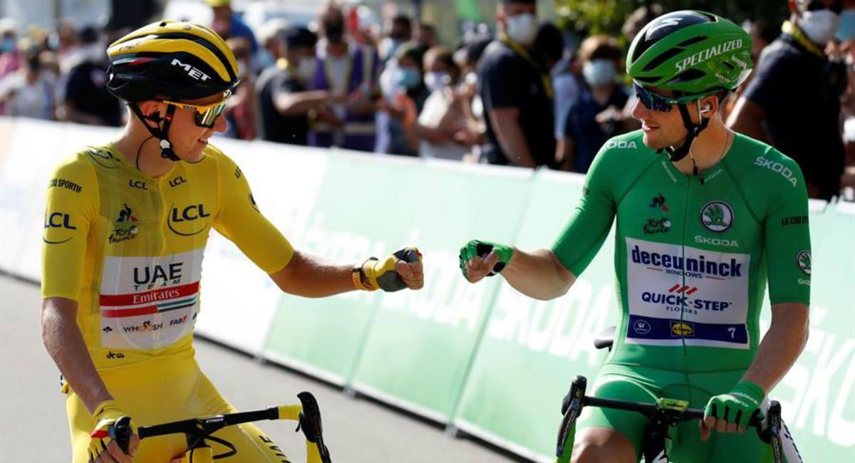 Bennett ganó la última etapa del Tour de Francia. Foto: EFE