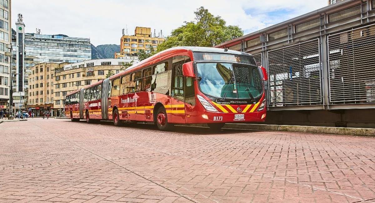 TransMilenio en el centro de Bogotá. Foto: Alcaldía de Bogotá