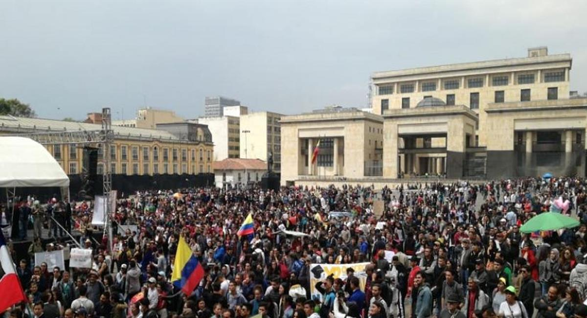 La Plaza de Bolívar será uno de los principales puntos de concentración. Foto: Twitter / @SoyAlexys