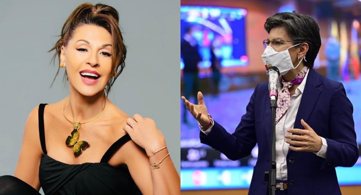 Una vez más la actriz protagoniza una nueva controversia. Foto: Instagram @agrisales333/@ClaudiaLopez.
