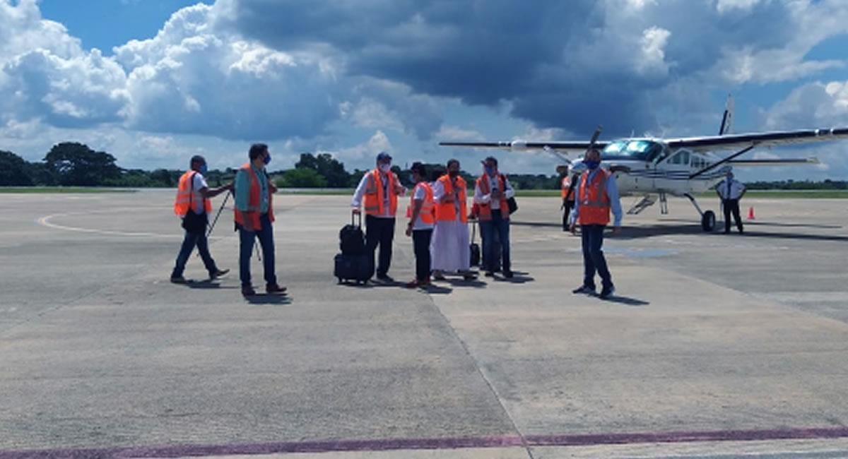 Algunos destinos nacionales estaban restringidos en primera fase. Foto: Twitter @AeroCivilCol