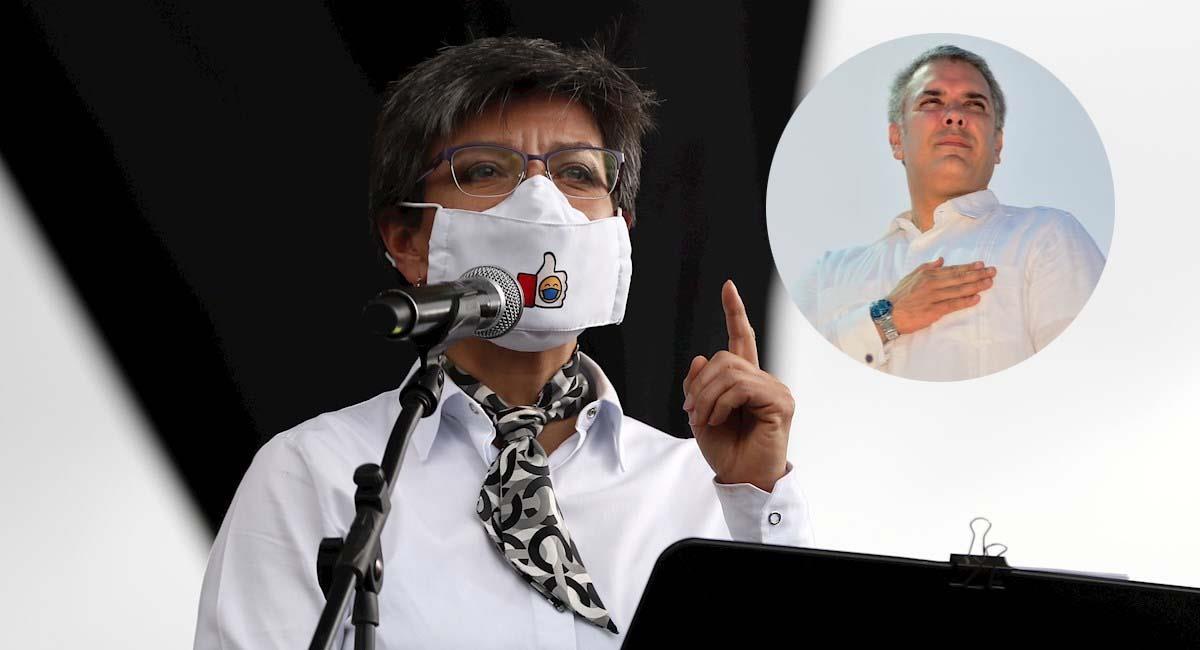 Claudia López es una de las principales contradictoras de Iván Duque. Foto: EFE