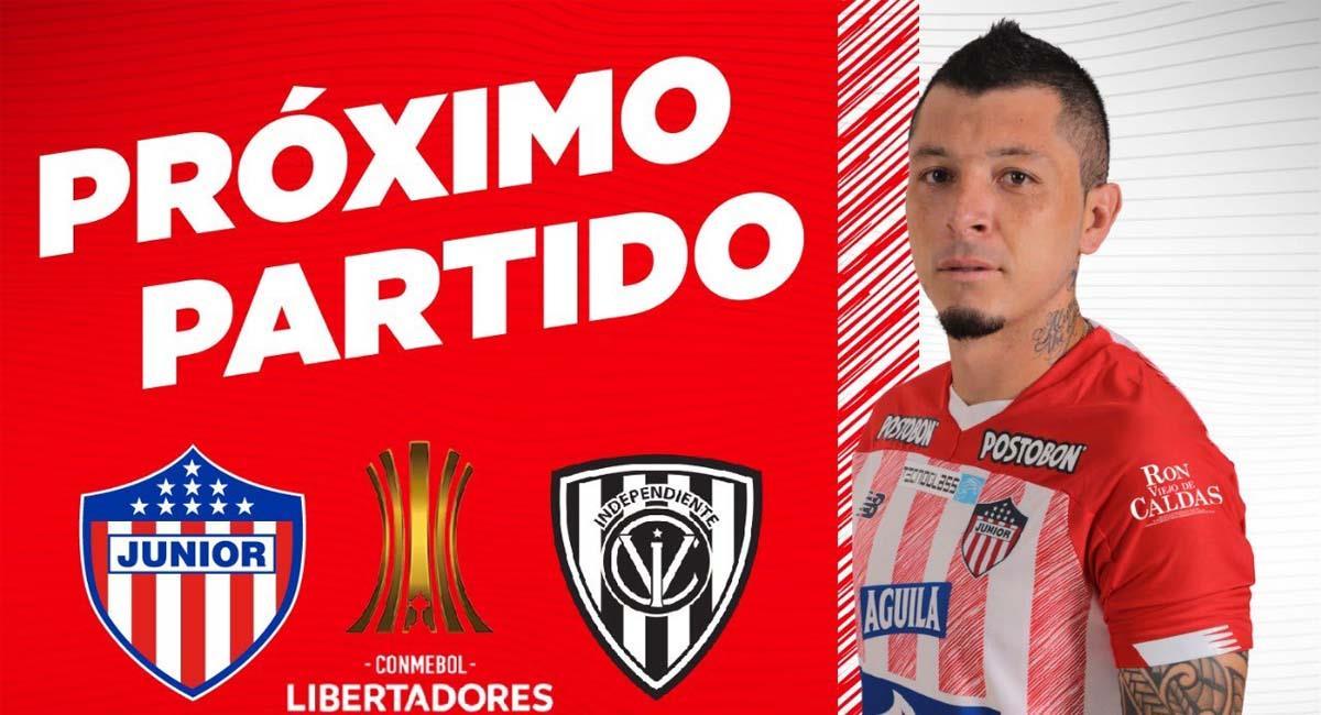 Junior busca una esperanza que lo ayude a clasificar a la siguiente instancia de la Copa Libertadores. Foto: Twitter / @JuniorClubSA