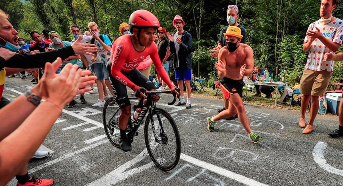 Nairo Quintana, pedalista colombiano del Arkea Samsic. Foto: EFE