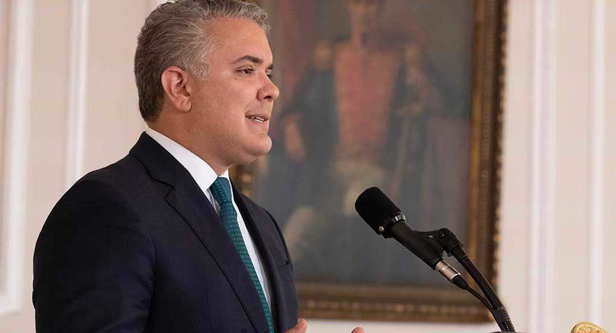 Iván Duque aseguró que ya pidió a las autoridades tomar control de la situación. Foto: Presidencia Colombia