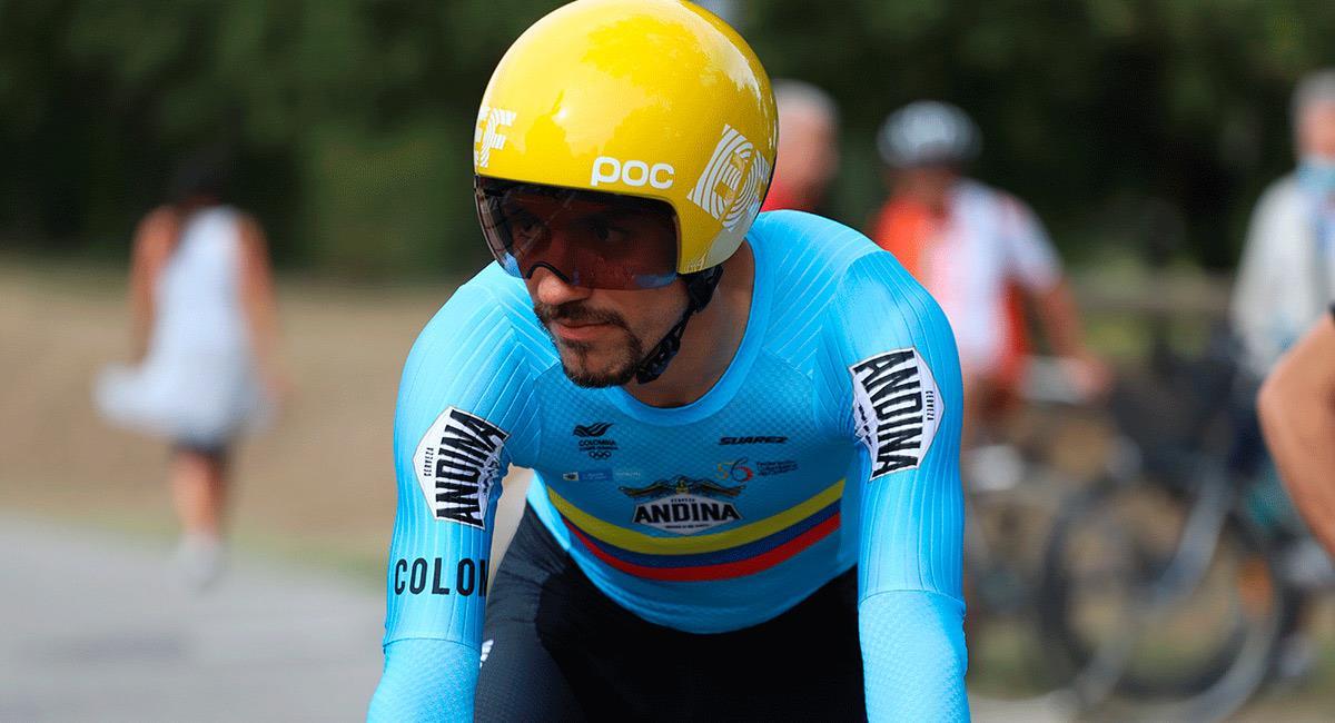 Daniel Felipe Martínez abrirá el Mundial de Ciclismo para Colombia. Foto: Prensa Federación Colombiana de Ciclismo