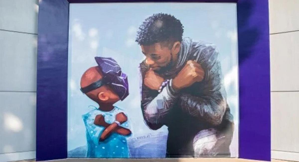 Chadiwck Boseman ahora tiene su homenaje en Disneyland. Foto: Instagram @nikkolas_smith