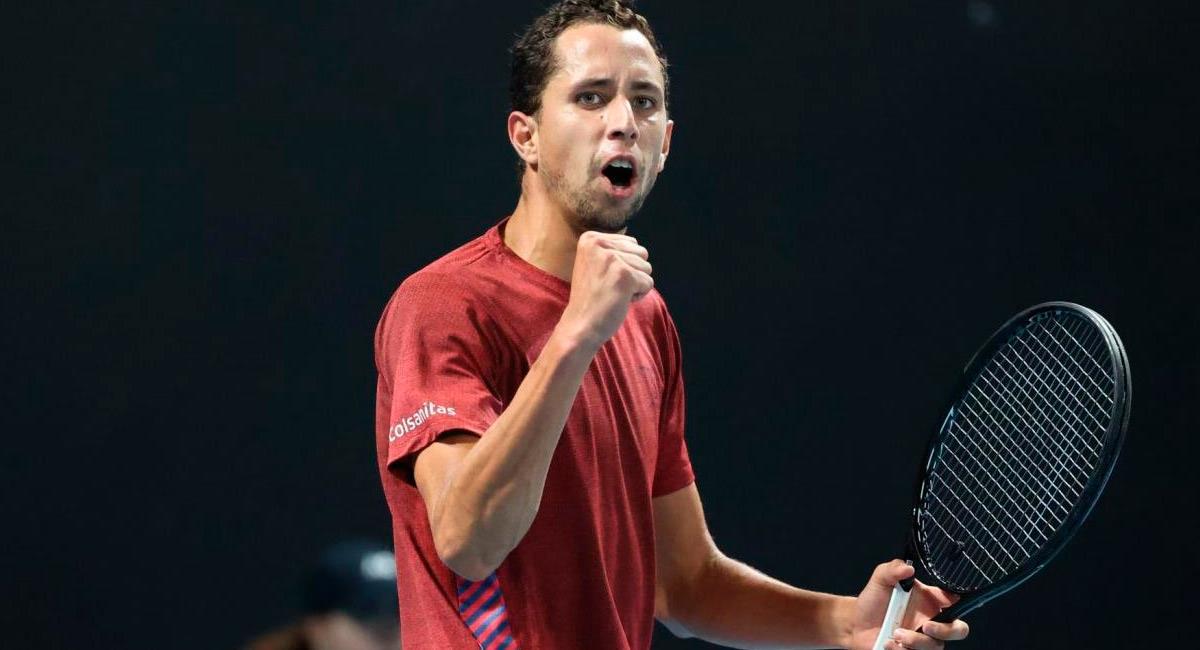 Daniel Galán, tenista colombiano. Foto: Prensa Fedecoltenis