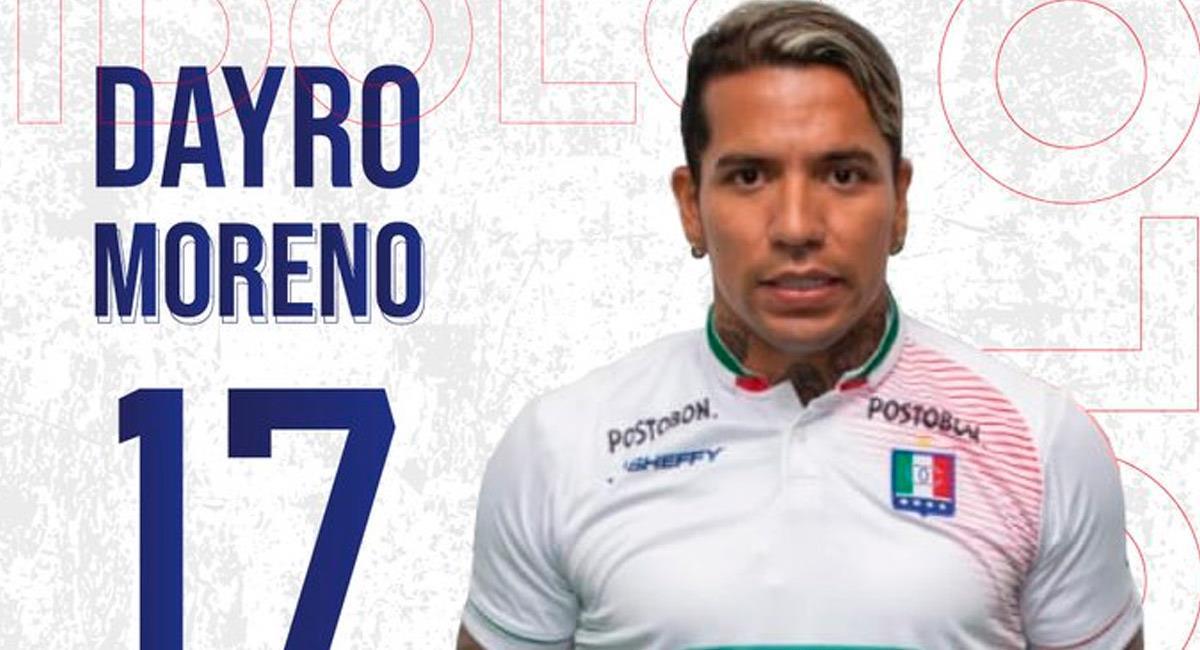 Dayro Moreno, reciente fichaje de Once Caldas. Foto: Twitter @oncecaldas