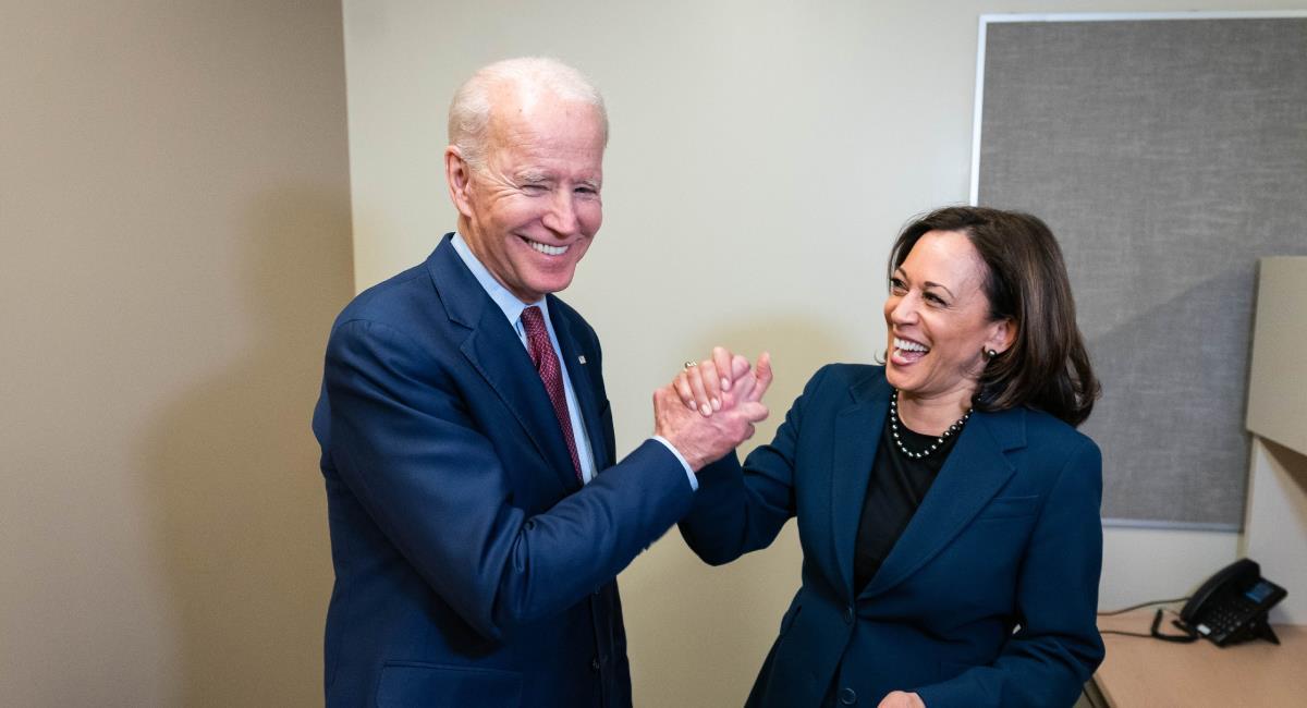 Biden junto a Kamala Harris, su fórmula vicepresidencial. Foto: Twitter @JoeBiden