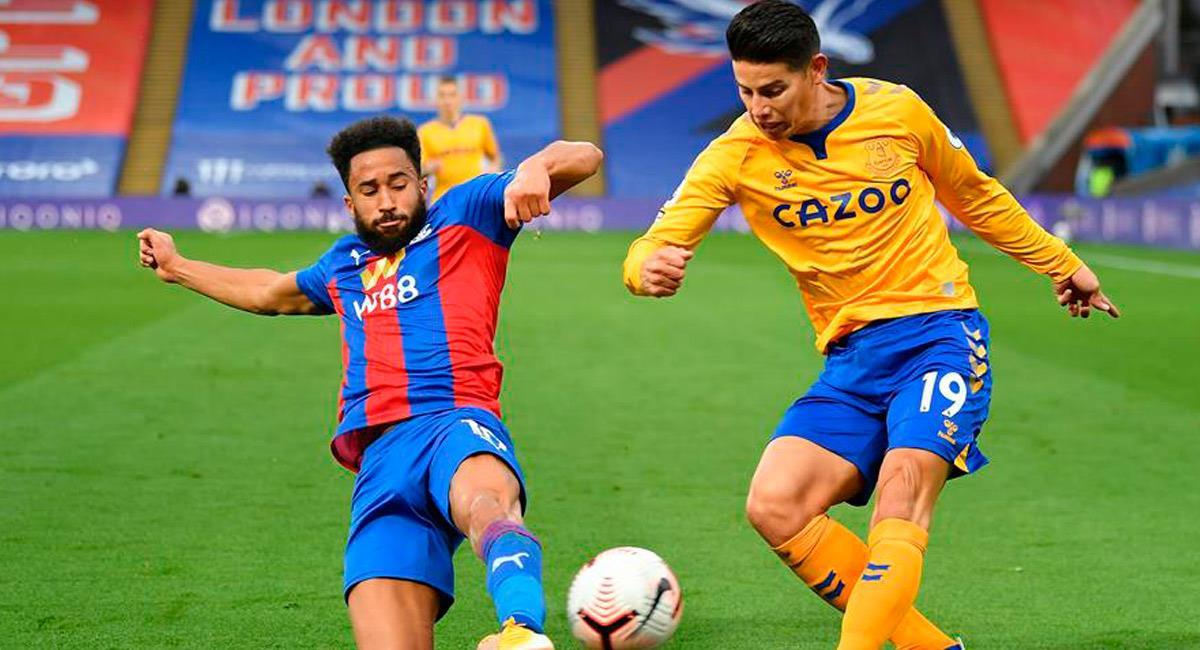 James Rodríguez en el partido ante Crystal Palace. Foto: EFE