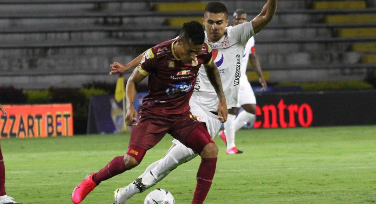 Tolima venció a América. Foto: Twitter Prensa redes Deportes Tolima