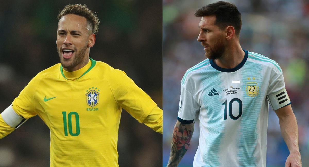Neymar y Messi encabezan las listas de Brasil y Argentina para las eliminatorias. Foto: Twitter @CBF_Futebol y @Argentina