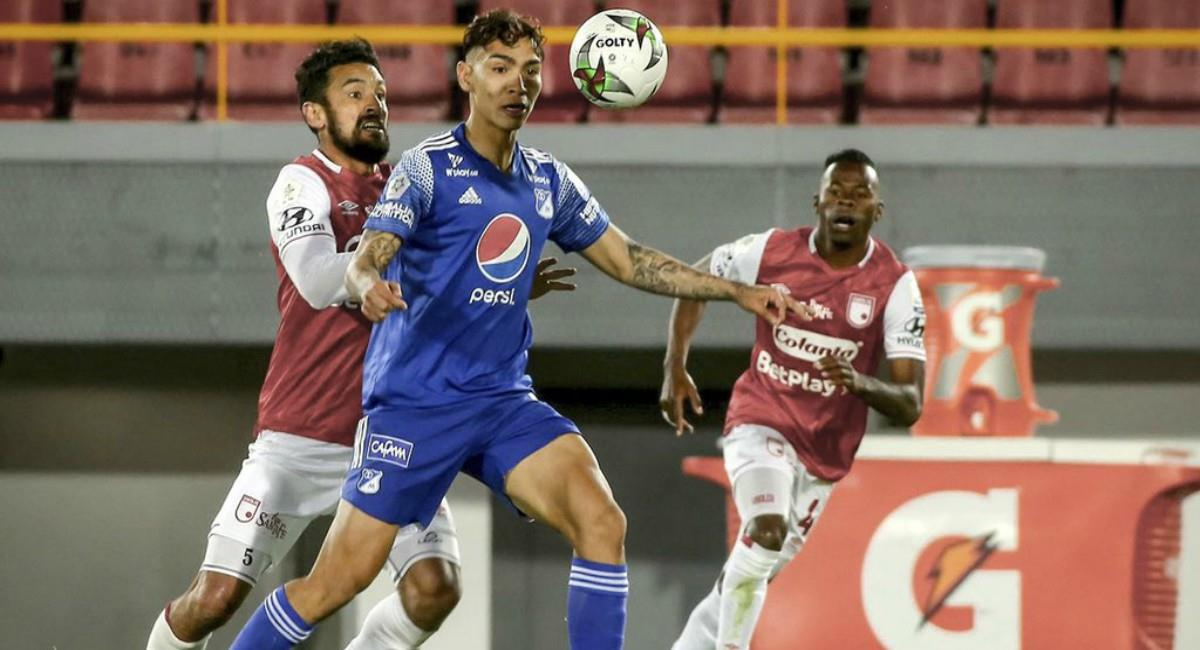 Santa Fe y Millonarios empatan el clásico. Foto: Twitter Prensa redes Millonarios.