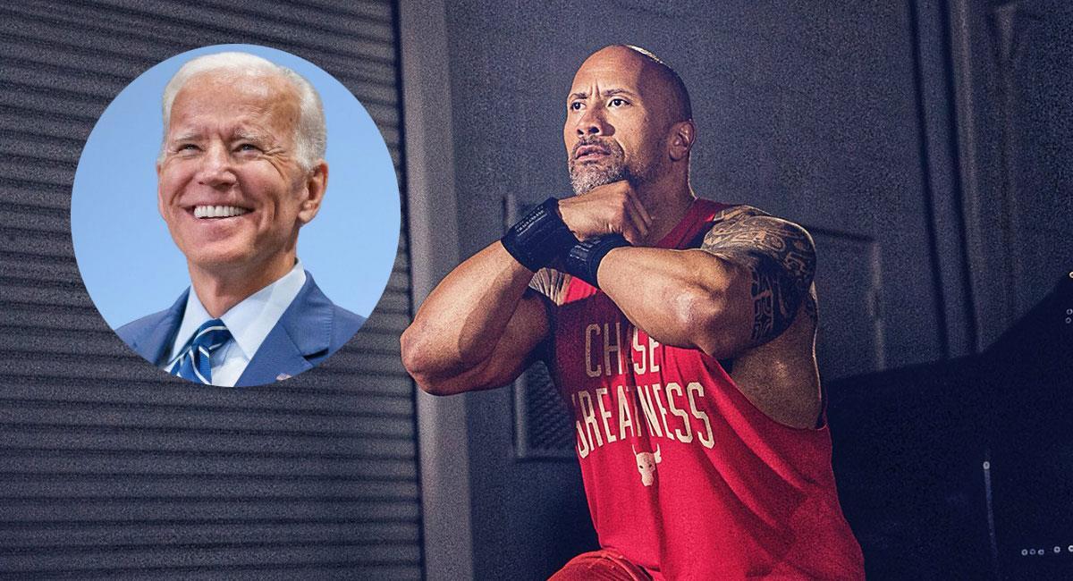 Dwayne Johnson anunció su apoyo al candidato demócrata Joe Biden. Foto: Twitter @JoeBiden y @TheRock