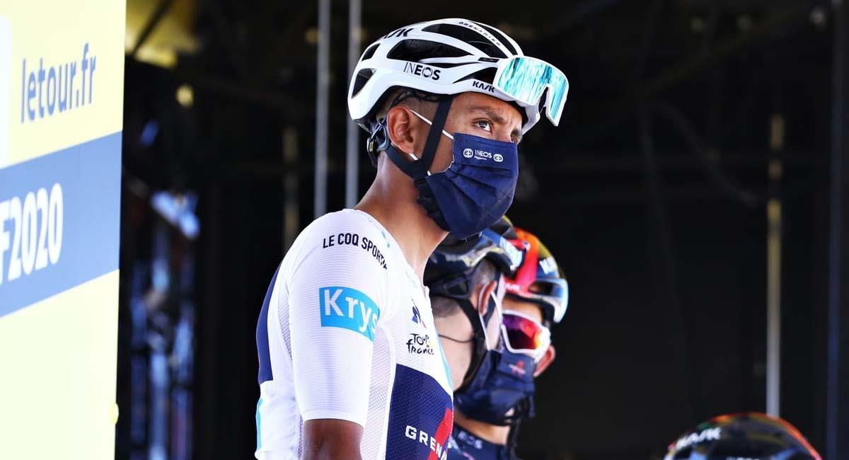 Egan Bernal, en el Tour de Francia 2020. Foto: Twitter / @Eganbernal