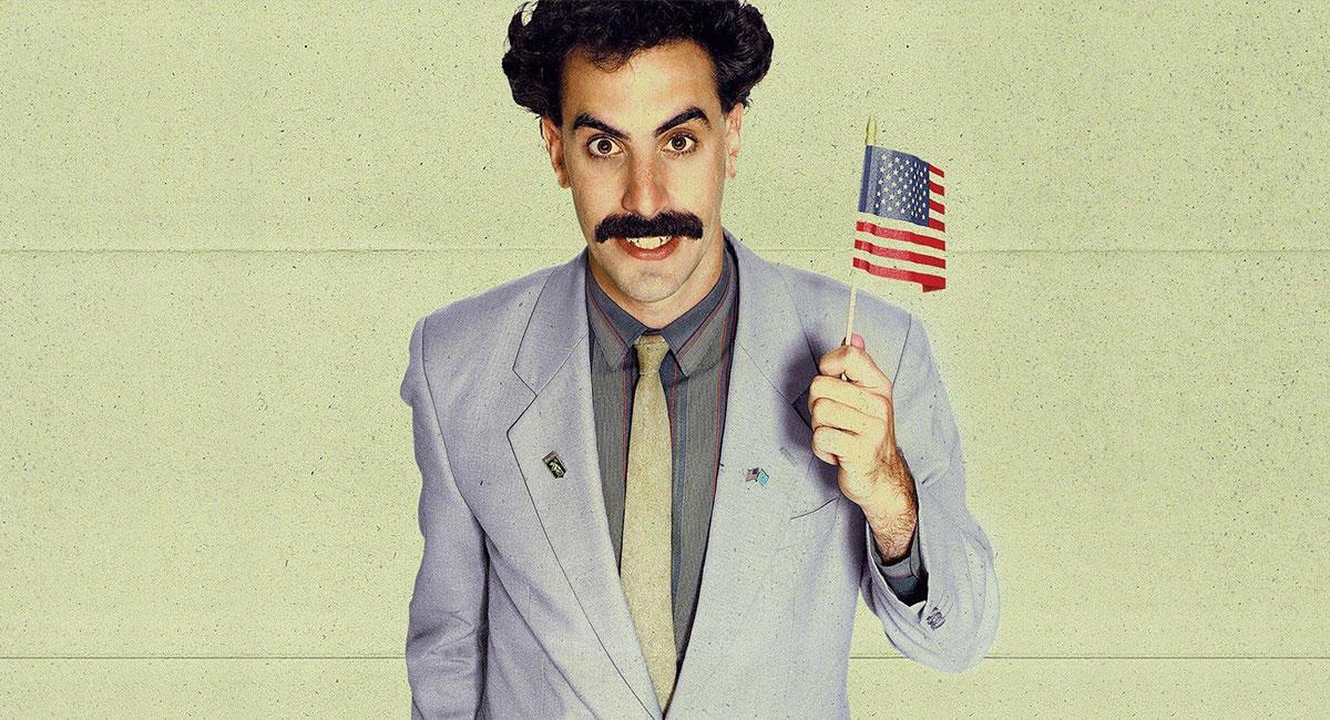 "El comediante británico Sacha Baron Cohen protagoniza ""Borat"". Foto: Twitter @IGN"