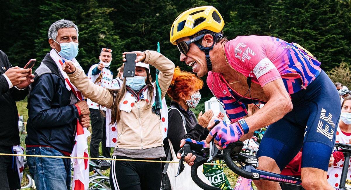 Rigoberto Urán tuvo una buena actuación en la Flecha Valona pero no alcanzó el podio. Foto: Twitter @UranRigoberto