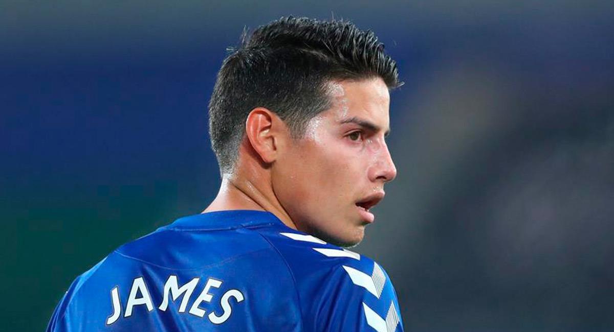 James Rodríguez es figura con Everton. Foto: EFE