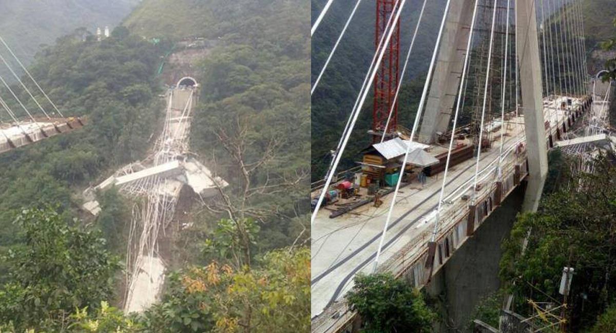 El puente de Chirajara se desplomó hace casi 3 años y aún no se establecen responsabilidades ni culpables. Foto: Facebook Llano 7 días
