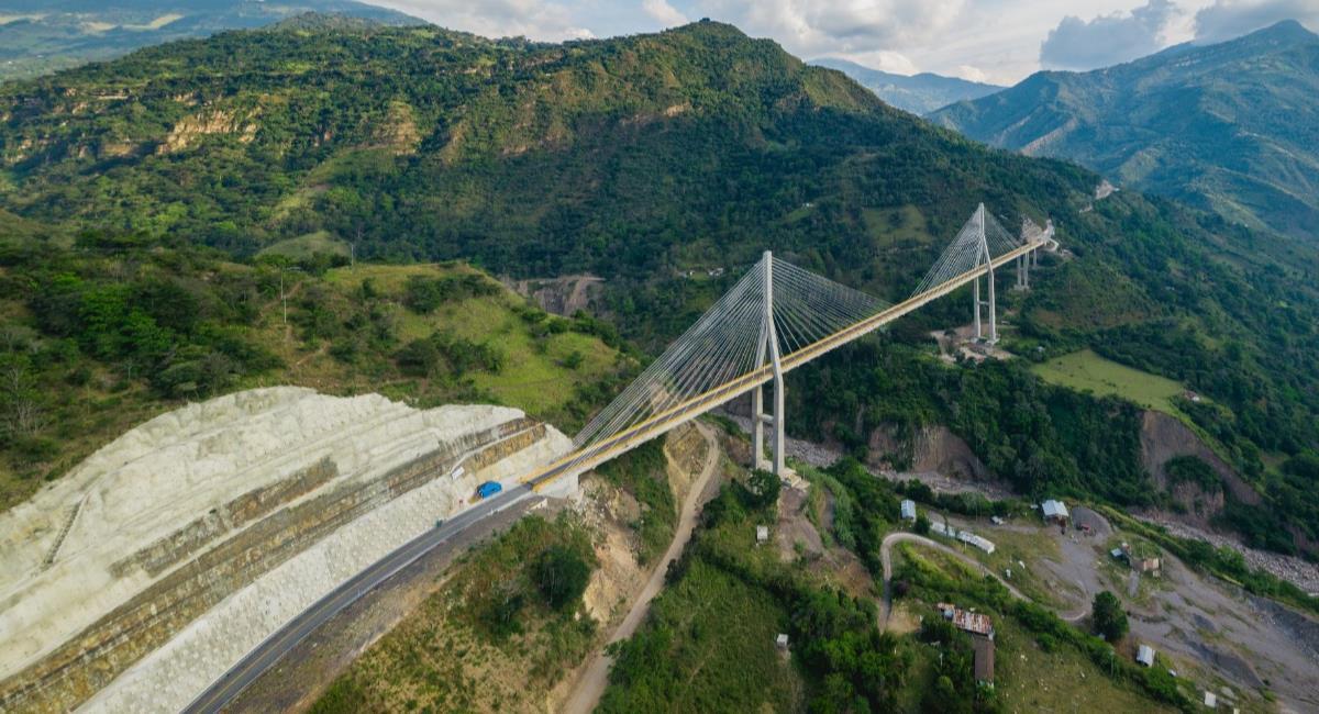 El puente Hisgaura fue inaugurado en enero de 2020. Foto: Twitter @InviasOficial