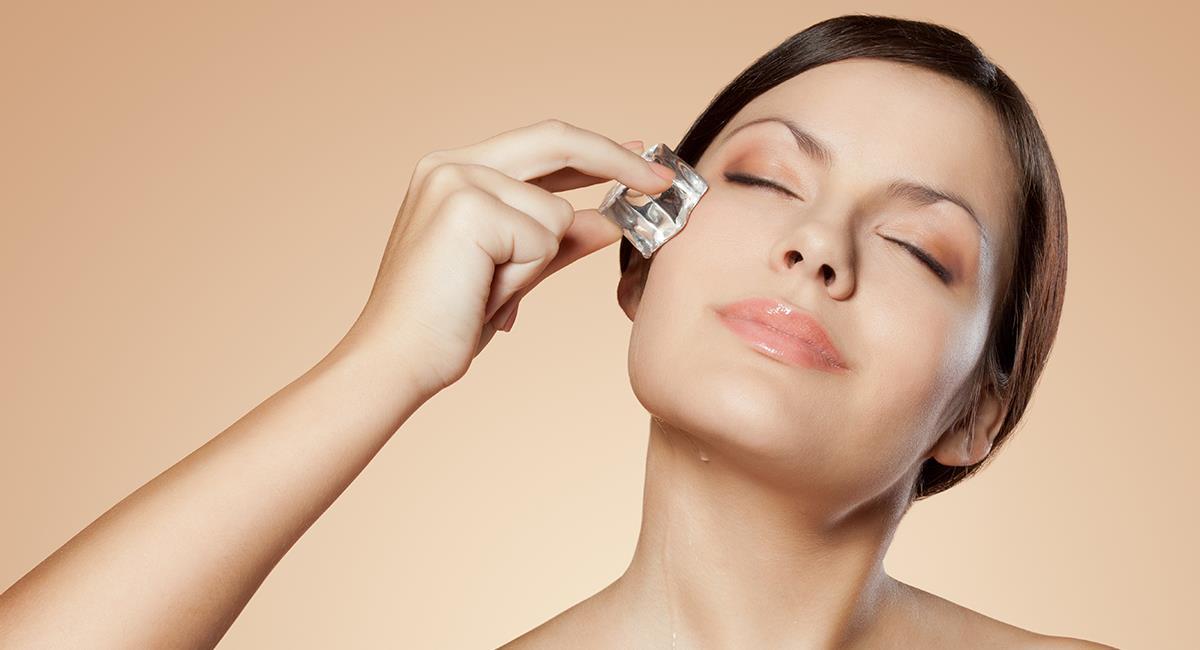 Esto es lo que sucede si pasas todos los días un hielo por tu piel. Foto: Shutterstock