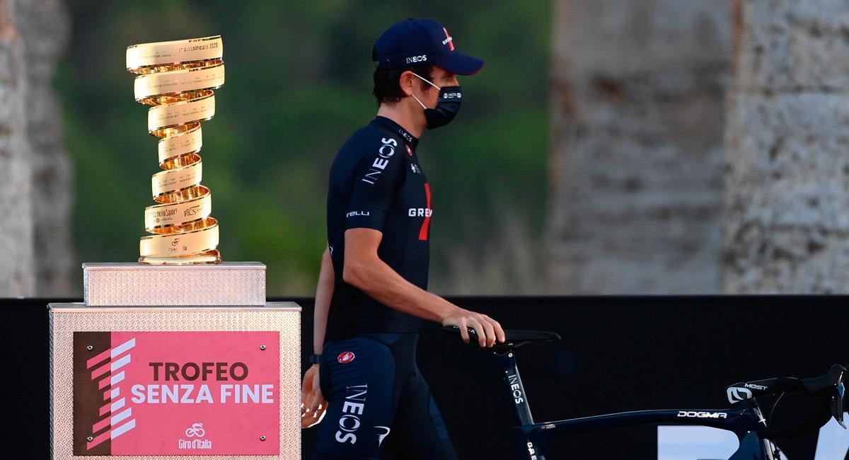 Geraint Thomas, líder del Team INEOS en el Giro de Italia. Foto: Twitter @giroditalia