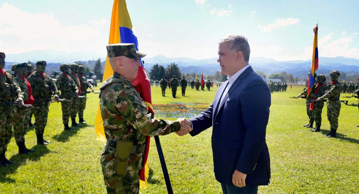 Duque ha defendido férreamente a las Fuerzas Armadas. Foto: Twitter @infopresidencia