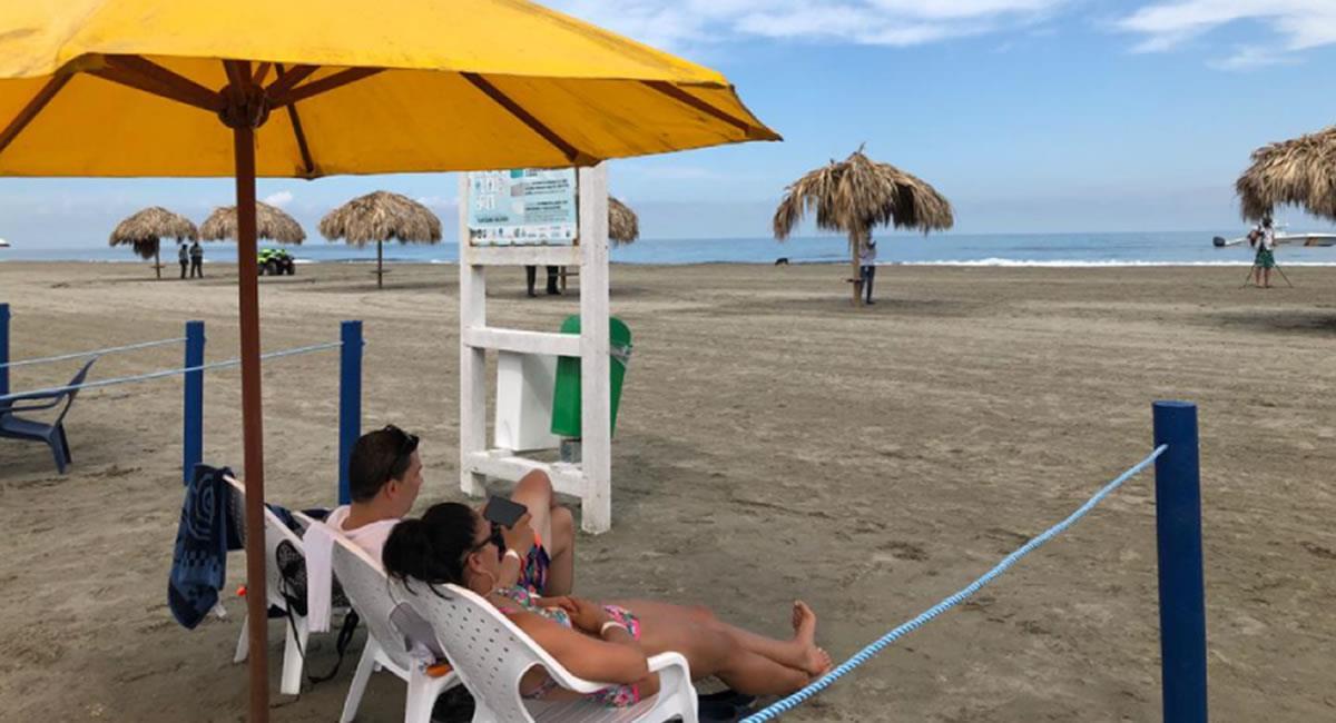 Las playas aperturaron a los bañistas y los puntos turísticos ya recibirán visitas. Foto: Twitter