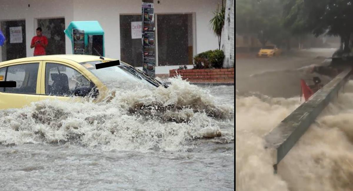 Cada vez que llueve fuertemente en Barrranquilla, las calles se convierten en caudalosos ríos que arrasan con todo a su paso. Foto: Facebook Arroyos Barranquilla