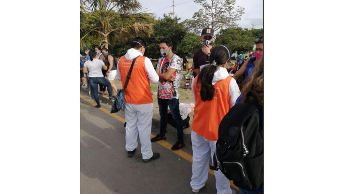 El familiar aseguró que regresaban a Venezuela, por la situación de la pandemia. Foto: Twitter @GobdeSantander