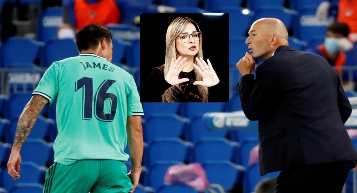 Vicky Dávila critica a Zidane y dice que maltrató a James. Foto: EFE