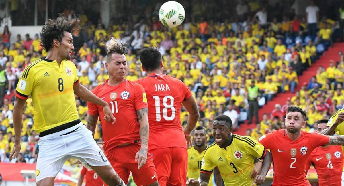 Historial de Chile vs. Colombia por Eliminatorias en Santiago. Foto: Twitter Prensa redes Selección Colombia.