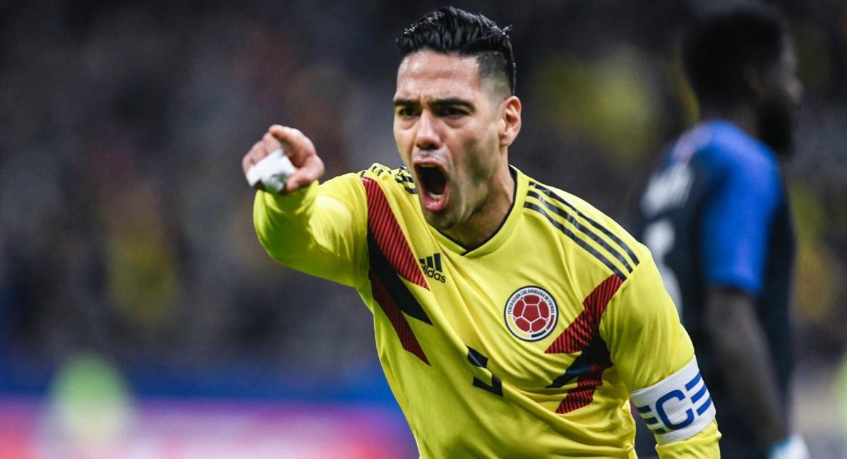 Goleadores históricos de Colombia ante Chile en Santiago. Foto: Twitter Prensa redes Falcao García.