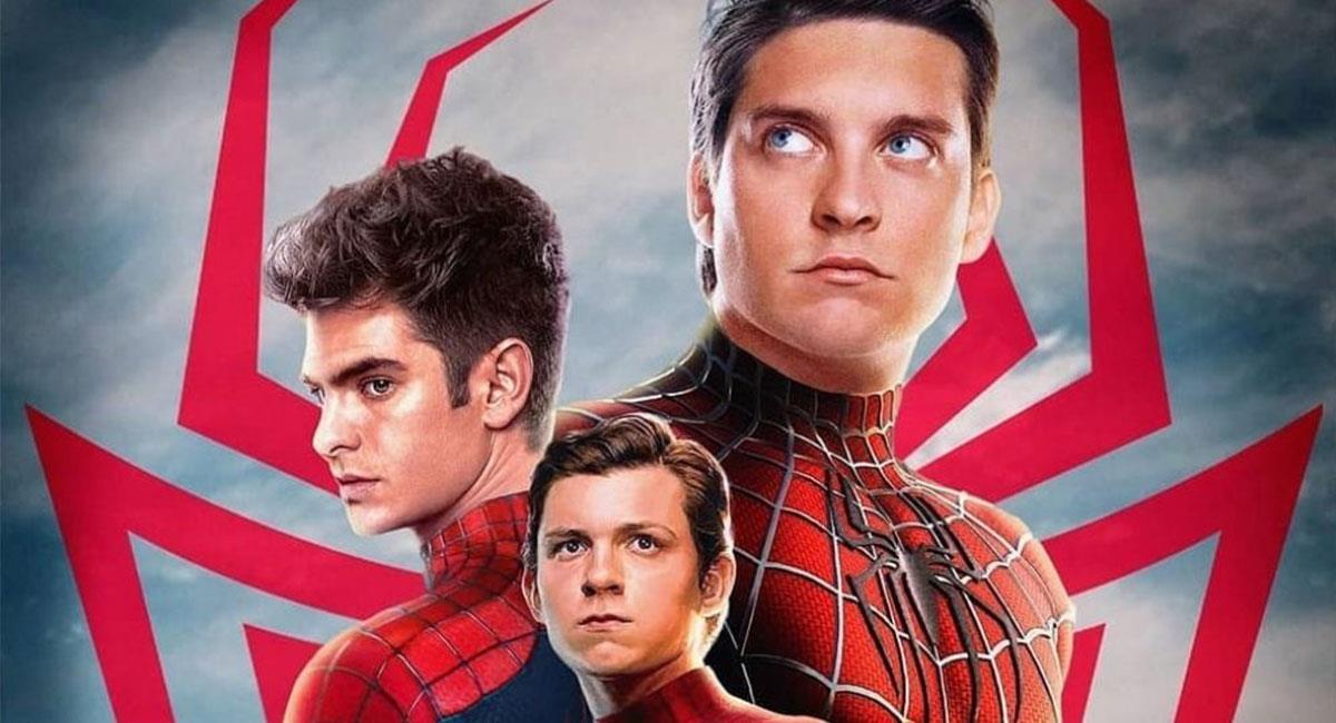 """Tobey Maguire, Andrew Garfield y Tom Holland podrían interpretar a """"Spider-Man"""" en su nueva película. Foto: Twitter @TheGeek_Zone"""