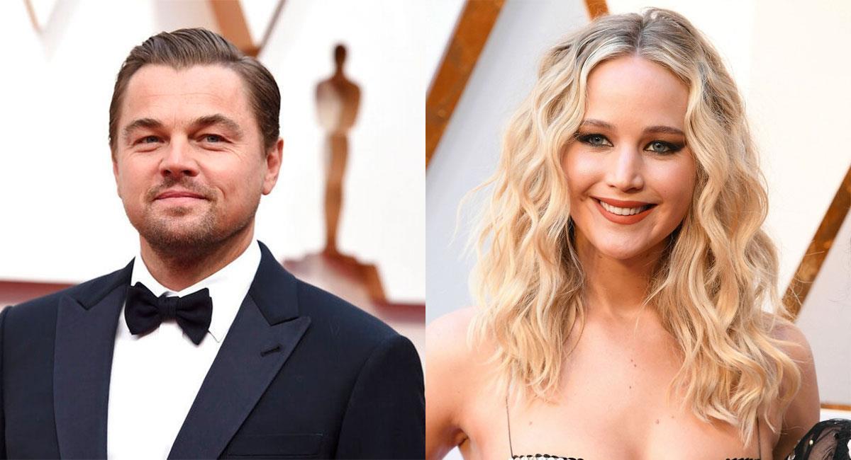 Leonardo DiCaprio y Jennifer Lawrence ya han sido ganadores del Premio Oscar. Foto: Twitter @JLawrenceARG