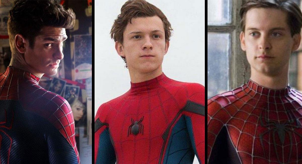 "Andrew Garfield, Tom Holland, Tobey Maguire podrían reunirse en ""Spider-Man 3"". Foto: Twitter @6ixbuzztv"