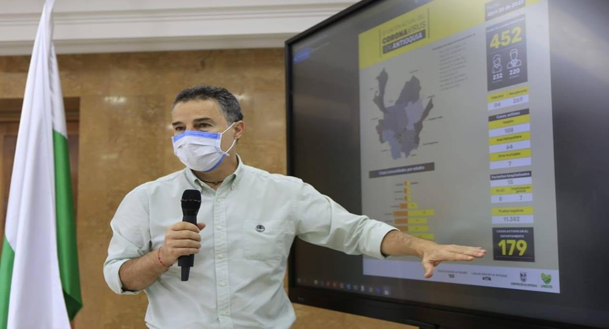 El gobernador de Antioquia, Aníbal Gaviria Correa se encontraba en detención domiciliaria desde el 6 de junio. Foto: Facebook Aníbal Gaviria Correa