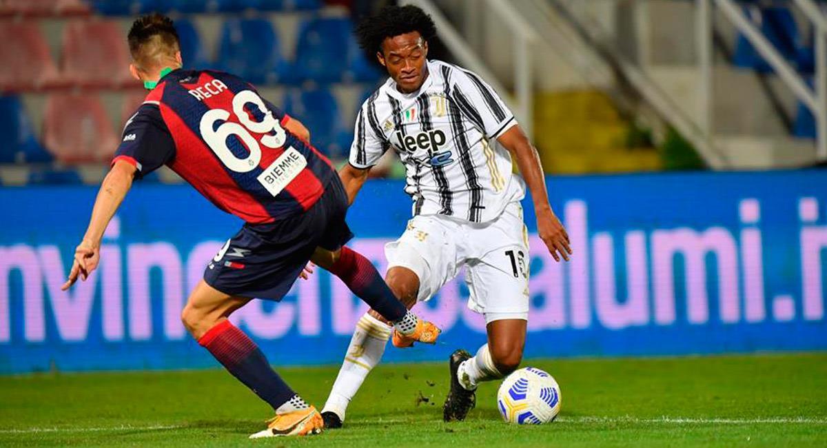 Juan Guillermo Cuadrado entró en el minuto 56 del partido ante Crotone. Foto: EFE