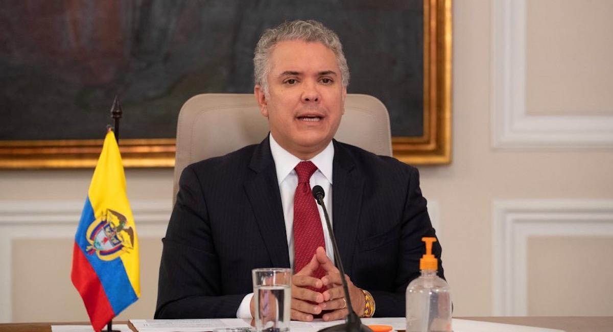 Iván Duque, presidente de Colombia. Foto: Twitter @infopresidencia