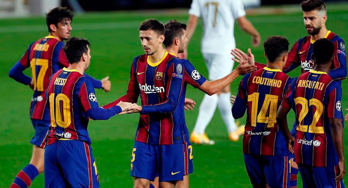 Lionel Messi en su partido ante Ferencvaros por Champions League. Foto: EFE