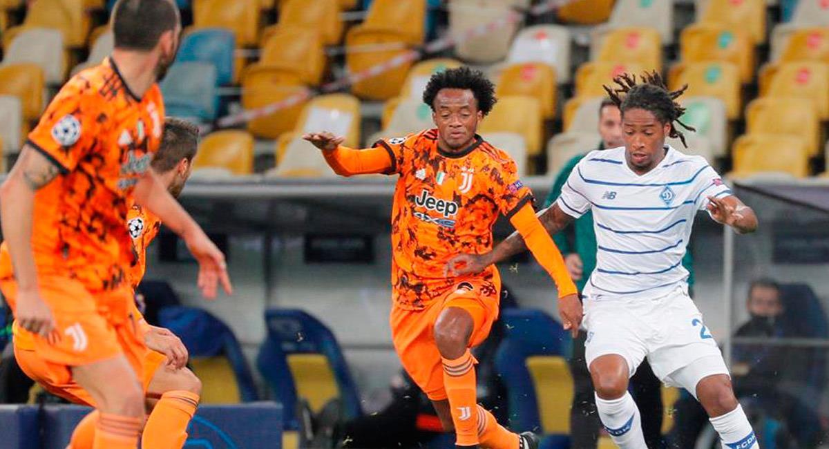Juan Guillermo Cuadrado en el partido ante Dynamo de Kiev. Foto: EFE