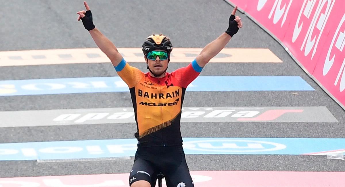 Jan Tratnik es el ganador de la etapa 16 del Giro de Italia 2020. Foto: Twitter @giroditalia
