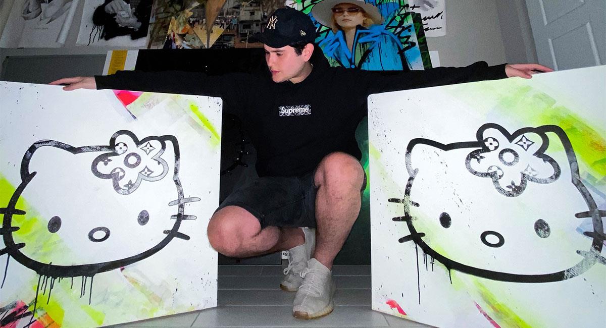 Enrique Enn, el genial artista callejero presenta su nuevo obra. Foto: Difusión.