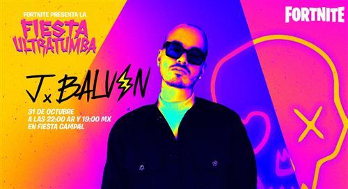 """J Balvin dará un concierto en el famoso videojuego """"Fortnite"""" el 31 de octubre"""