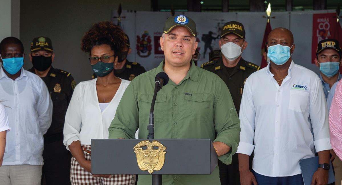 Duque respondió a las críticas de un ciudadano. Foto: Twitter @infopresidencia