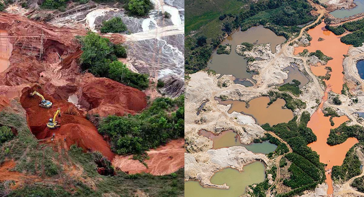 La minería ilegal ha causado daños irreversibles en el bajo Cauca antioqueño y en el Chocó. Foto: Facebook Ayda Ciro