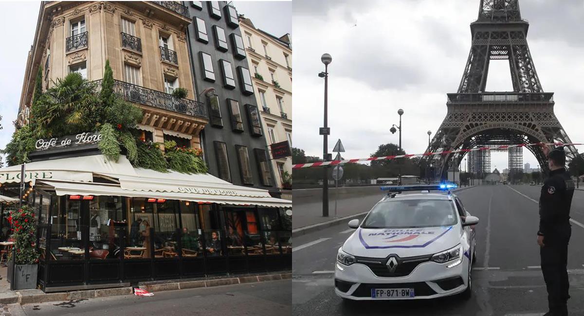 Gendarmes franceses custodian Paris, cuyos bares y restaurantes deben cerrar antes de las 9 de la noche. Foto: Facebook Noticias Globovisión/Luis Alberto Benítez