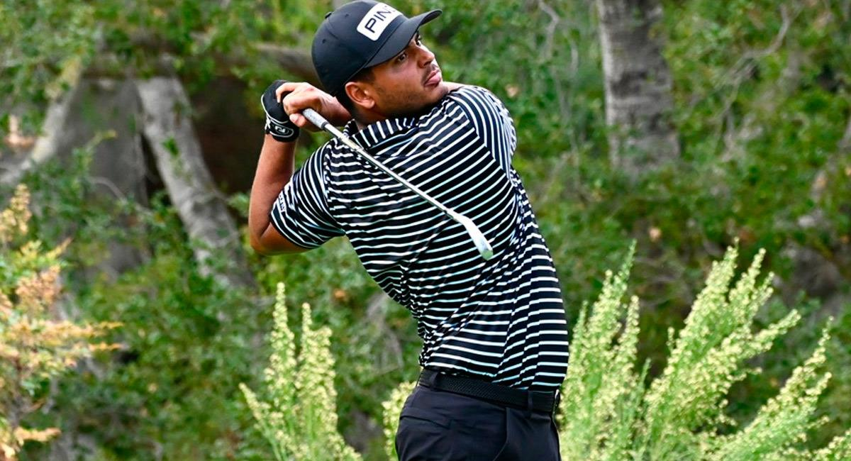 Juan Sebastián Muñoz lidera el The ZOZO Championship del PGA. Foto: Twitter @PGATOUR