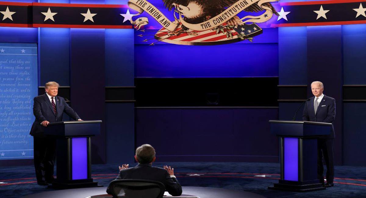 Las encuestas realizadas luego del debate del jueves consideran que Joe Biden estuvo mejor que Donald Trump. Foto: Facebook Aristegui Noticias